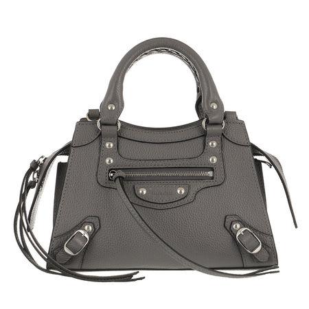 Balenciaga  Satchel Bag - Neo Classic Mini Top Handle Bag Grained Calfskin - in grau - für Damen grau