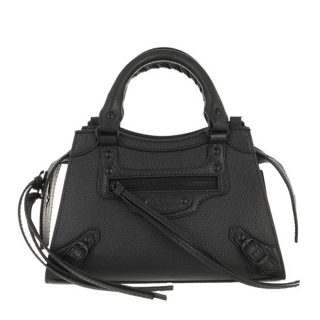 Balenciaga  Satchel Bag - Neo Classic Mini Top Handle Bag Leather - in schwarz - für Damen grau
