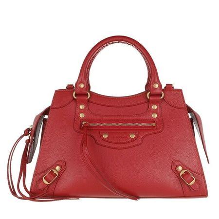 Balenciaga  Satchel Bag - Neo Classic Small City Bag Grained Calfskin - in rot - für Damen