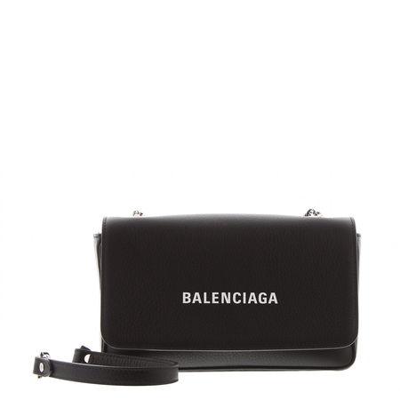Balenciaga  - Schultertasche Everyday L aus Leder schwarz