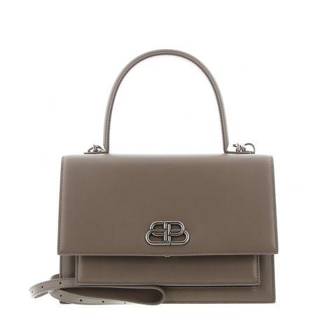 Balenciaga  - Schultertasche Sharp M aus Leder braun