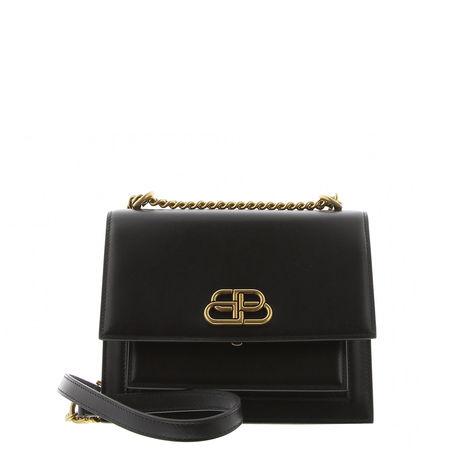 Balenciaga  - Schultertasche Sharp S aus Leder schwarz