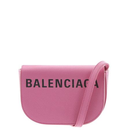 Balenciaga  - Schultertasche Ville Day Bag XS aus Leder rosa