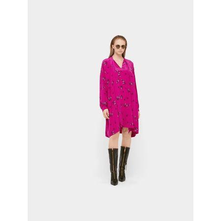 Balenciaga Seidenkleid mit Allover-Print