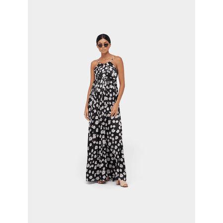 Balenciaga Seidenkleid mit Allover-Print grau