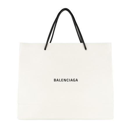 Balenciaga  Shopper  -  Classic City Arena Fettuccia Cerata Tote White  - in weiß  -  Shopper für Damen beige