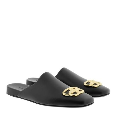 Balenciaga  Slipper & Pantoletten - BB Mules Smooth Leather - in schwarz - für Damen