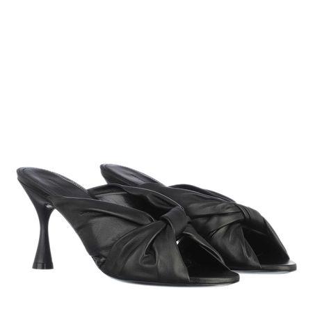 Balenciaga  Slipper & Pantoletten - Drapy Sandal Leather - in black - für Damen grau
