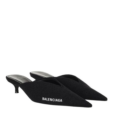 Balenciaga  Slipper & Pantoletten - Knife Knit Heeled Mule - in black - für Damen