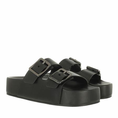 Balenciaga  Slipper & Pantoletten - Mallorca Plateau Sandals Leather - in schwarz - für Damen
