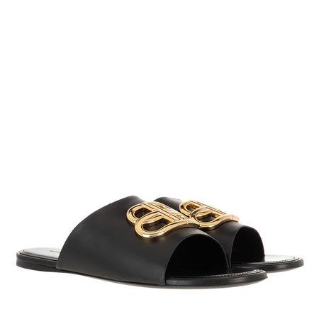 Balenciaga  Slipper & Pantoletten - Slides With BB Logo - in schwarz - für Damen grau