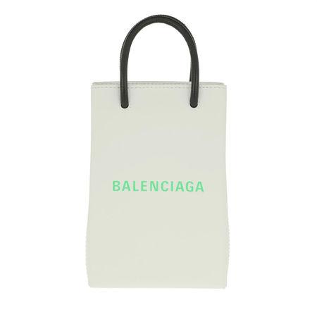 Balenciaga  Smartphone Cases - Phone Hold Strap Bag Leather - in weiß - für Damen grau