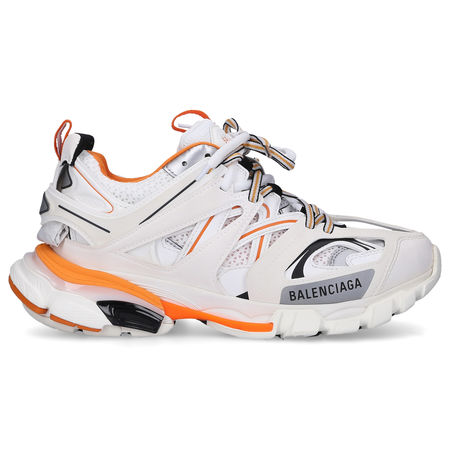 Balenciaga  Sneaker low TRACK  Materialmix Logo orange weiß grau