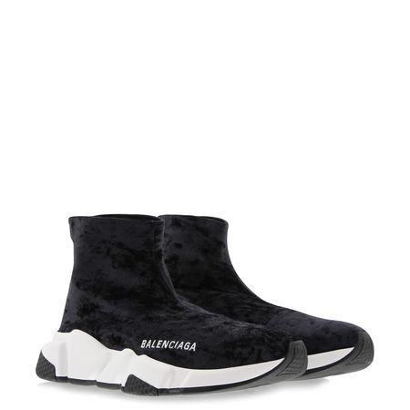 Balenciaga  - Sneakers Speed aus Samt schwarz