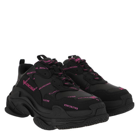 Balenciaga  Sneakers - Triple S All Over Logo Sneakers - in schwarz - für Damen schwarz