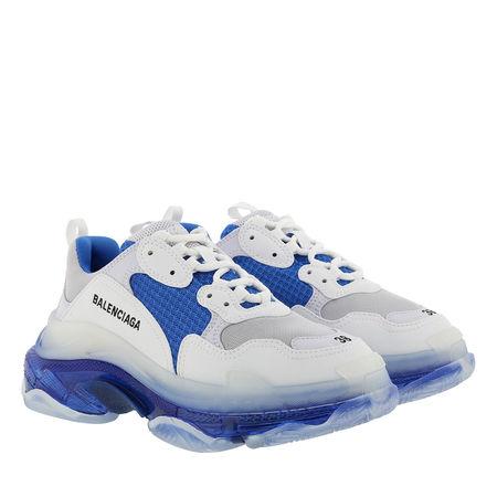 Balenciaga  Sneakers  -  Triple S Sneaker White Blue Grey  - in blau  -  Sneakers für Damen grau