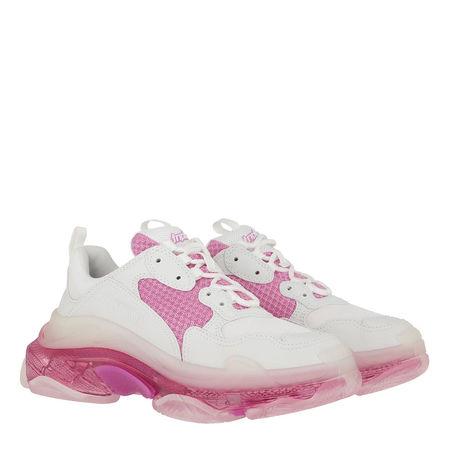Balenciaga  Sneakers  -  Triple S Sneaker White Pink  - in weiß  -  Sneakers für Damen grau