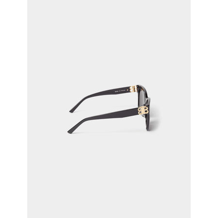 Balenciaga Sonnenbrille mit Label-Details grau