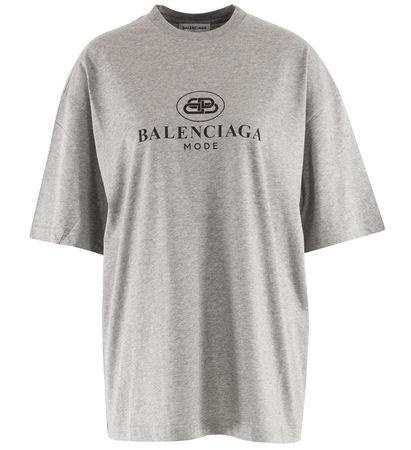 Balenciaga  - T-Shirt aus Baumwolle mit Print grau