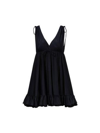 Balenciaga  - Top mit Rüschendetail Schwarz schwarz