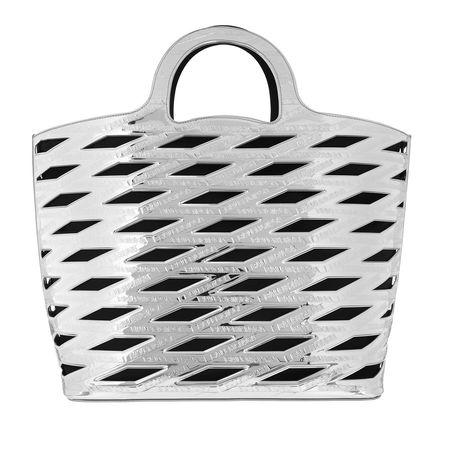 Balenciaga  Tote - Logo Embossed Cutout Basket Tote Bag - in silber - für Damen