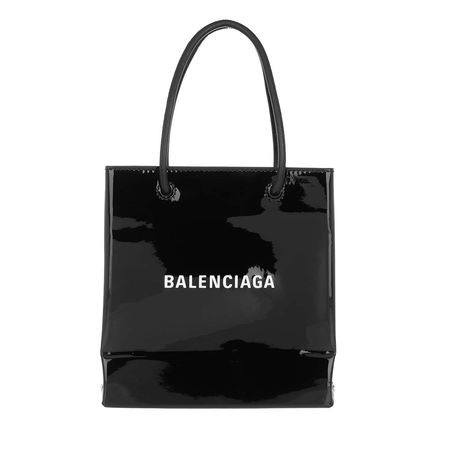Balenciaga  Tote  -  Shopping Tote XXS Patent Leather Black  - in schwarz  -  Tote für Damen schwarz