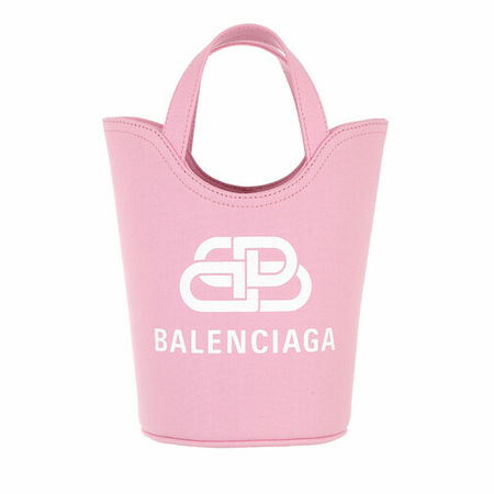 Balenciaga  Tote - Small Wave Logo Tote Bag - in pink - für Damen