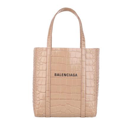 Balenciaga  Tote - XXS Everyday Tote Bag Croc Print - in beige - für Damen braun