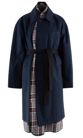 Balenciaga  - Trenchcoat aus Baumwolle schwarz