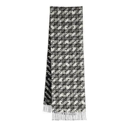 Balenciaga  Tücher & Schals - Allover Logo Scarf - in schwarz - für Damen