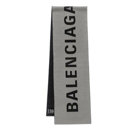 Balenciaga  Tücher & Schals - Logo Knitted Scarf - in grau - für Damen