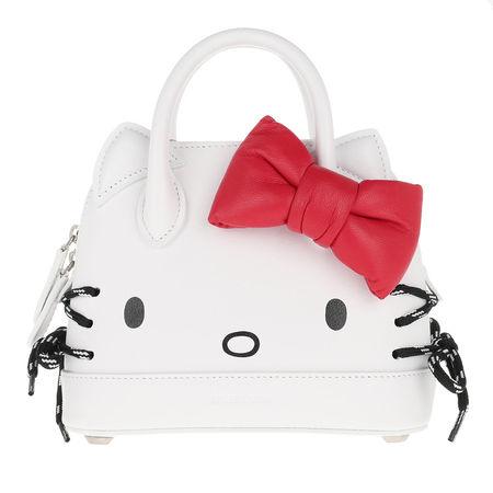 Balenciaga  Umhängetasche  -  Kitty XXS Top Handle Bag White  - in weiß  -  Umhängetasche für Damen grau