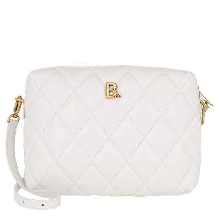 Balenciaga  Umhängetasche  -  Quilted B Line Camera Bag White  - in weiß  -  Umhängetasche für Damen grau