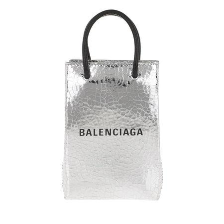 Balenciaga  Umhängetasche  -  Shop Phone Holder Silver  - in silber  -  Umhängetasche für Damen grau