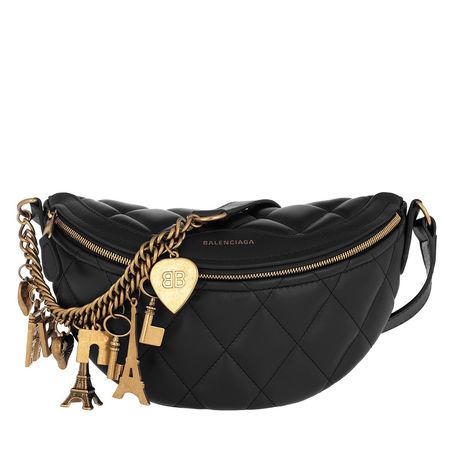 Balenciaga  Umhängetasche  -  Shoulder Bag Souvenirs XS Black  - in schwarz  -  Umhängetasche für Damen schwarz