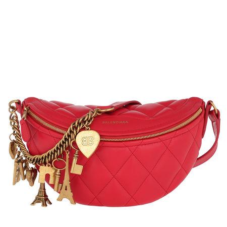 Balenciaga  Umhängetasche  -  Shoulder Bag Souvenirs XS Bright Red  - in rot  -  Umhängetasche für Damen rot
