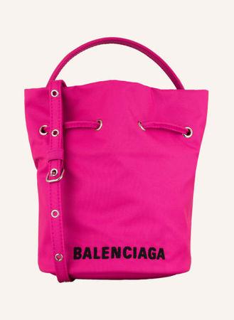 Balenciaga  Umhängetasche Wheel Drawstring pink