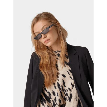 Balenciaga Unisex Sonnenbrille im Retro-Look grau