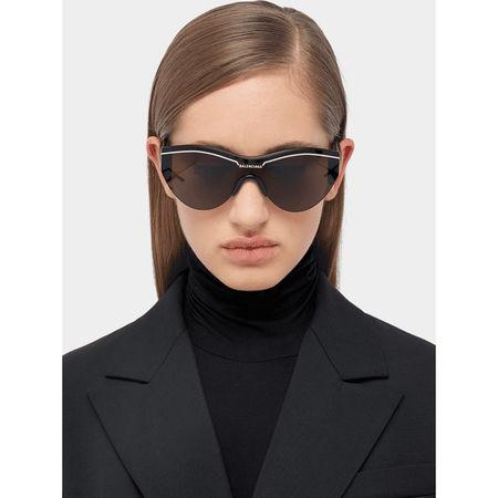 Balenciaga Unisex Sonnenbrille mit Monoscheibe grau