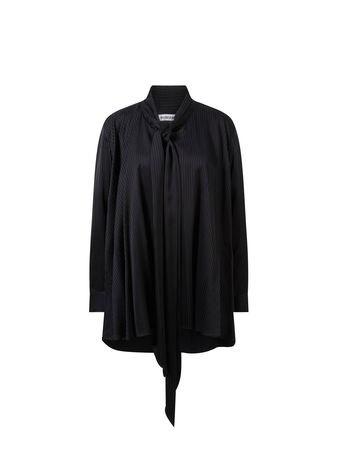 Balenciaga  - Viskose-Bluse mit Streifenmuster Schwarz schwarz