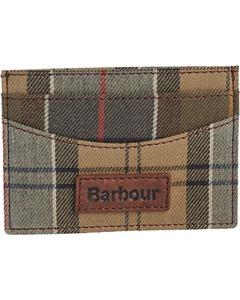 Barbour Kartenetui Tartan braun