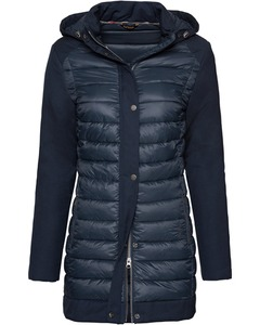 Barbour Steppmantel Leven grau