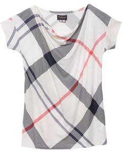 Barbour T-Shirt Leathen grau