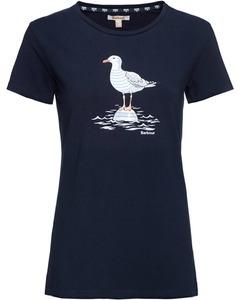 Barbour T-Shirt Sailboat grau