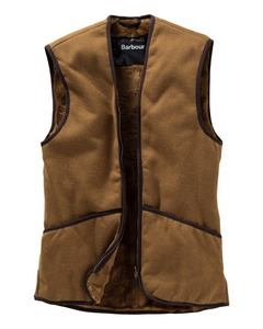 Barbour Zip-in Weste Warm Pile (Innenfutter) braun