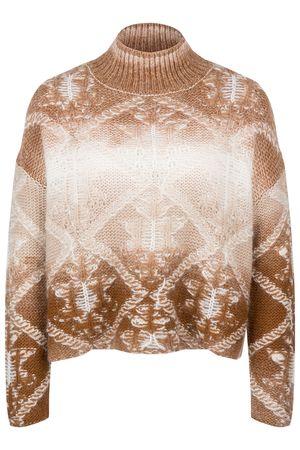 Acne Studios  - Woll-Mohair-Schal 'Vally' Braun/Beige