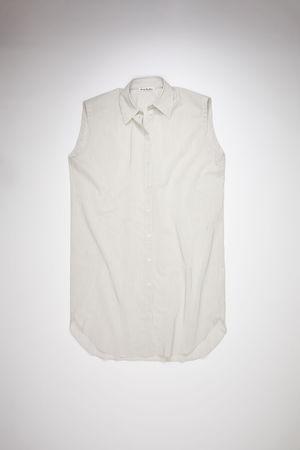 Acne Studios  FN-WN-DRES000522 White/beige Striped shirt dress grau