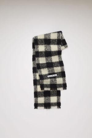 Acne Studios  FN-UX-SCAR000119 White/black  Checked scarf grau