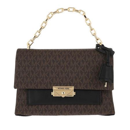 Michael Kors  Satchel Bag  -  Cece MD Chain Shoulder Brown/Black  - in braun  -  Satchel Bag für Damen braun