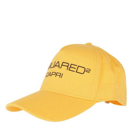 Dsquared2  Caps  -  Baseball Cap Yellow/Black  - in gelb  -  Caps für Damen orange
